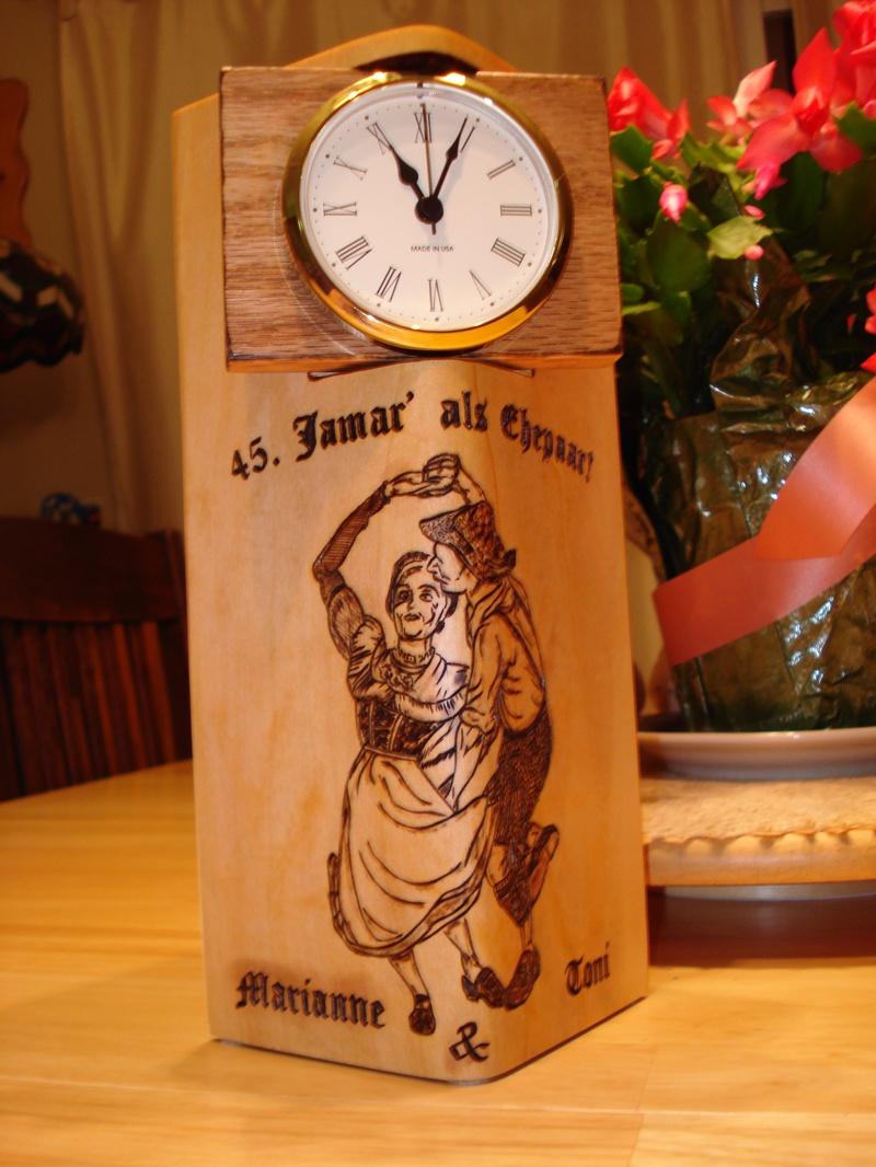 45th Wedding Anniversary Clock