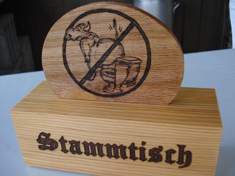 No bull-S--t Stammtisch sign