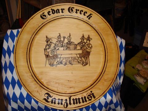 Cedar Creek Tanzlmusi Logo Plaque